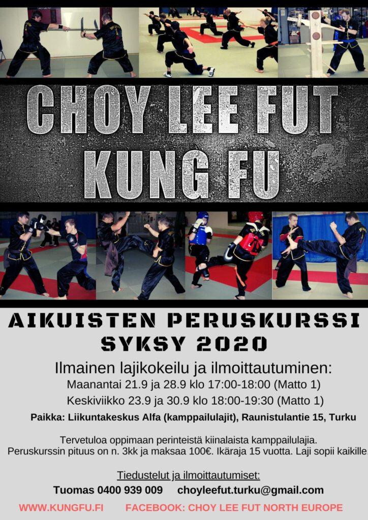 Kung Fu Peruskurssi Turku Syksy 2020